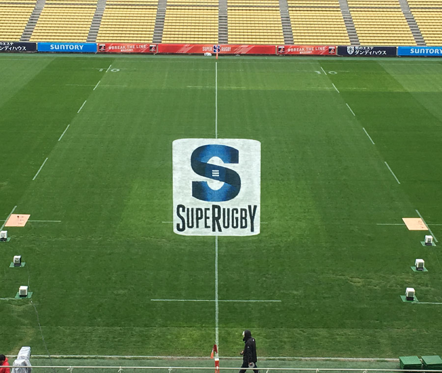 Paint 3D advertising in rugby stadium